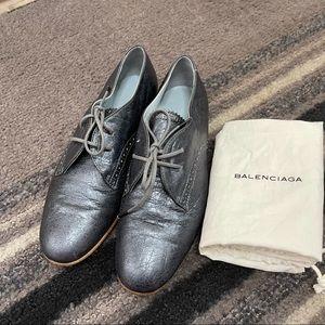 Balenciaga leather flats